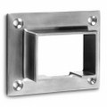 Wall flange square tube